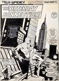 Ross Andru and Mike Esposito Giant-Size Spider-Man #3 Splash Page 1 Original Art (Marvel, 1975)