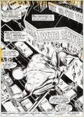 Original Comic Art:Splash Pages, Gene Colan and Ernie Chan Daredevil #97 Splash Page 1Original Art (Marvel, 1973)....