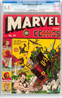 Marvel Mystery Comics #10 (Timely, 1940) CGC FN- 5.5 Off-white to white pages