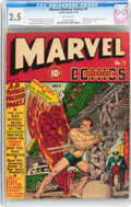 Golden Age (1938-1955):Superhero, Marvel Mystery Comics #9 (Timely, 1940) CGC GD+ 2.5 Brittle pages....