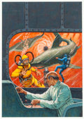 Original Comic Art:Covers, The Frogmen #9 Cover Original Art (Dell, 1964).... (Total: 2Items)
