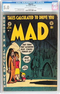 Mad #1 (EC, 1952) CGC VG/FN 5.0 Light tan to off-white pages