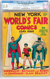 New York World's Fair Comics 1940 (DC, 1940) CGC GD 2.0 Brittle pages