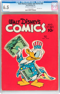 Walt Disney's Comics and Stories #20 (Dell, 1942) CGC FN+ 6.5 Off-white to white pages