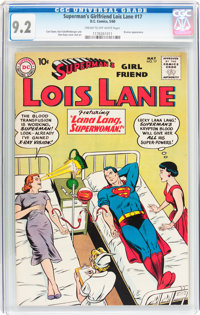 Superman's Girlfriend Lois Lane #17 (DC, 1960) CGC NM- 9.2 Cream to off-white pages