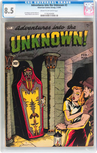 Adventures Into The Unknown #3 (ACG, 1949) CGC VF+ 8.5 Cream to off-white pages
