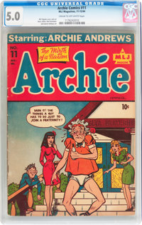 Archie Comics #11 (Archie, 1944) CGC VG/FN 5.0 Cream to off-white pages