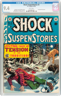 Shock SuspenStories #3 (EC, 1952) CGC NM 9.4 White pages