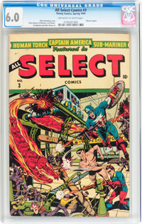 All Select Comics #3 (Timely, 1944) CGC FN 6.0 Off-white to white pages