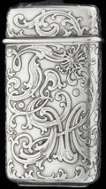 Silver Smalls:Match Safes, A TIFFANY & CO. SILVER MATCH SAFE, New York, New York, circa1891-1902. Marks: TIFFANY & CO, 26, 9886 MAKERS 489,STERLING...
