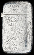 Silver Smalls:Match Safes, A TIFFANY & CO. SILVER AND SILVER GILT MATCH SAFE, New York,New York, circa 1885. Marks: TIFFANY & CO., STERLING, 8202,M...