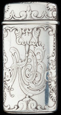 Silver Smalls:Match Safes, A TIFFANY & CO. SILVER MATCH SAFE, New York, New York, circa 1882-1891. Marks: TIFFANY & CO, STERLING, 7127, M, 7397. 2-...