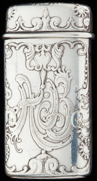 A TIFFANY & CO. SILVER MATCH SAFE, New York, New York, circa 1882-1891 Marks: TIFFANY & CO, STERLING, 71...