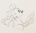 Animation Art:Production Drawing, The Worm Turns Mickey Mouse Production Drawing Animation Art(Walt Disney, 1937)....