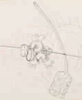 Animation Art:Production Drawing, Mickey's Circus Mickey Mouse Animation Art ProductionDrawing (Walt Disney, 1936)....