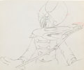 Animation Art:Production Drawing, Mickey's Amateurs Goofy Production Drawing Animation Art(Walt Disney, 1937)....