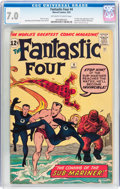 Silver Age (1956-1969):Superhero, Fantastic Four #4 (Marvel, 1962) CGC FN/VF 7.0 Off-white to white pages....