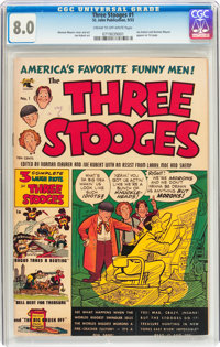 Three Stooges #1 (St. John, 1953) CGC VF 8.0 Cream to off-white pages
