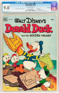 Four Color #408 Donald Duck - File Copy (Dell, 1952) CGC VF/NM 9.0 Off-white pages