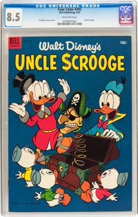 Four Color #495 Uncle Scrooge (Dell, 1953) CGC VF+ 8.5 Off-white pages