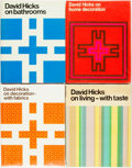 Books:Art & Architecture, [Interior Design]. Group of Four Books by David Hicks. Various publishers and dates. First editions. Quartos. Publisher'... (Total: 4 Items)
