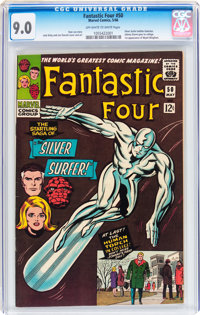 Fantastic Four #50 (Marvel, 1966) CGC VF/NM 9.0 Off-white to white pages