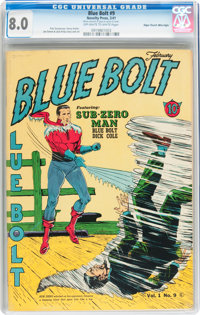 Blue Bolt #9 Mile High pedigree (Novelty Press, 1941) CGC VF 8.0 Off-white to white pages