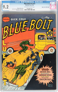 Blue Bolt V2#12 Mile High pedigree (Novelty Press, 1942) CGC NM- 9.2 Off-white to white pages