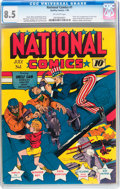 Golden Age (1938-1955):Superhero, National Comics #1 (Quality, 1940) CGC VF+ 8.5 Off-white pages....