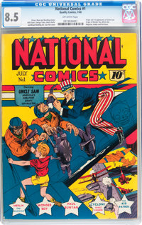 National Comics #1 (Quality, 1940) CGC VF+ 8.5 Off-white pages
