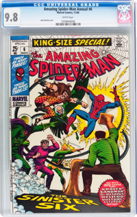 The Amazing Spider-Man Annual #6 (Marvel, 1969) CGC NM/MT 9.8 White pages