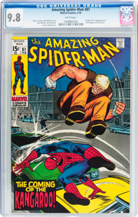 The Amazing Spider-Man #81 (Marvel, 1970) CGC NM/MT 9.8 White pages