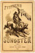 Books:Music & Sheet Music, [Americana]. Stephens' Fenian Songster, Containing All the Heart-Stirring and Patriotic Ballads and Songs, as Sung at th...