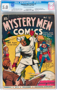 Mystery Men Comics #1 (Fox, 1939) CGC VG/FN 5.0 Cream to off-white pages