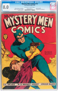 Golden Age (1938-1955):Superhero, Mystery Men Comics #13 (Fox, 1940) CGC VF 8.0 Off-white to white pages....