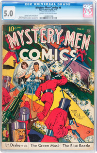 Mystery Men Comics #6 (Fox, 1940) CGC VG/FN 5.0 Cream to off-white pages