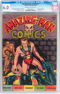 Amazing-Man Comics #11 (Centaur, 1940) CGC FN 6.0 Cream to off-white pages