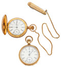 Timepieces:Pocket (post 1900), Elgin 24 Hour & Private Label 18 Size Pocket Watches. ...(Total: 2 Items)