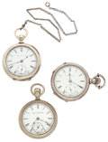 Timepieces:Pocket (post 1900), Three Elgin's 18 Size Pocket Watches. ... (Total: 3 Items)