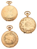 Timepieces:Pocket (post 1900), A Lot Of Three Hunter's Case Pocket Watches Runners. ... (Total: 3 Items)