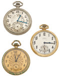 Timepieces:Pocket (post 1900), A Lot Of Three 12 Size Open Face Pocket Watches For Parts OrRepair. ... (Total: 3 Items)