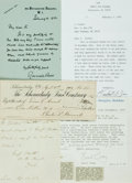 Autographs:Authors, Scientists, Explorers and Historians. Group of Autographs and Typed Letters Signed. Includes Rennel Rodd, Sir John Forbes, H...