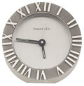 Timepieces:Clocks, Tiffany & Co. Stainless Steel Alarm Clock. ...