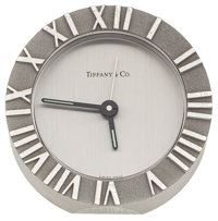 Tiffany & Co. Stainless Steel Alarm Clock