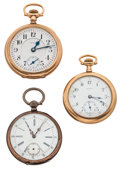 Timepieces:Pocket (post 1900), Premo & Howard & Swiss Pocket Watches. ... (Total: 3 Items)