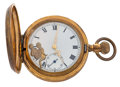 Timepieces:Pocket (post 1900), Swiss 16 Size Depicting Erotic On The Dial. ...