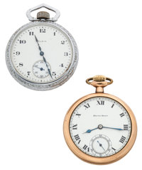 Elgin & South Bend 16 Size Open Face Pocket Watches Runners