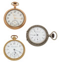 Timepieces:Pocket (post 1900), . A Lot Of Three 12 Size Pocket Watches For Parts Or Repair. ... (Total: 3 Items)