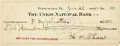 """Autographs:Celebrities, Harry K. Thaw. Autograph/Signed Check. January, 21st, 1925. Checknumber 69, measures 8"""" x 3"""", with bank cancellation st..."""