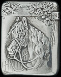 Silver Smalls:Match Safes, A GORHAM SILVER MATCH SAFE, Providence, Rhode Island, 1888. Marks:(lion-anchor-G), STERLING, 700, (date mark). 1-3/8 in...